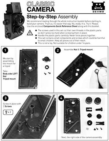 DEVMO DIY Lightnes Classic Retro Holga Lomo Recesky TLR Camera 35mm Film Twin Lens Reflex Kit 51 0tNZUQBL