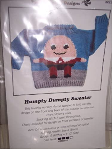 Humpty Dumpty Sweater Childrens Sizes One Knitting Pattern By