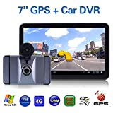 Mingruie 7inch Android Car GPS Navigation 8G Driving Recorder Stereo Bluetooth wifi Video E-Book Camera Amplifier Subwoo