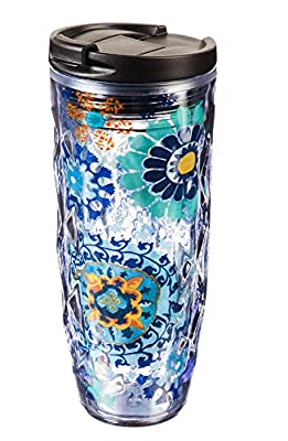 Cypress Home Textured Acrylic Hot Tumbler, 16 ounces
