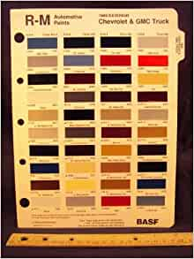 1989 Chevrolet All Models Colors of Touch Up Paint