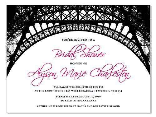 Amazon parisian invitations 10 count with envelopes paris parisian invitations 10 count with envelopes paris themed bridal shower invitations baby filmwisefo