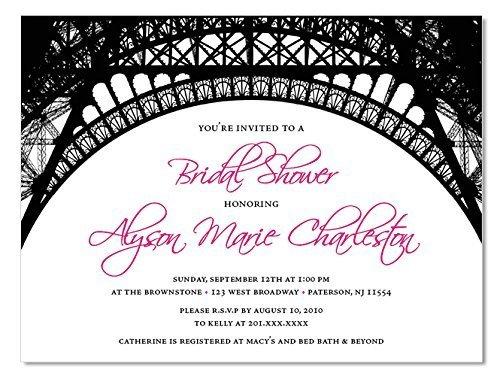 (Parisian Invitations (10 count) with Envelopes – Paris Themed Bridal Shower Invitations, Baby Shower Invitations, Birthday)