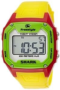 Freestyle Shark Classic - Reloj digital de caballero de cuarzo con correa de goma negra (alarma, cuenta vueltas, luz, cronómetro)