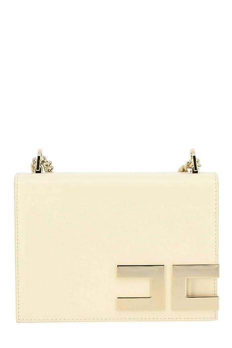 rivenditore di vendita 76316 148e1 Elisabetta Franchi borsa piccola con tracolla colore Burro P ...