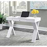 Convenience Concepts Newport Desk with Drawer, White