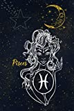 "Pisces: Horoscope Zodiac Notebook Journal Diary 6"" x 9"" Wide Ruled Blank Line Paper 110 Pages"
