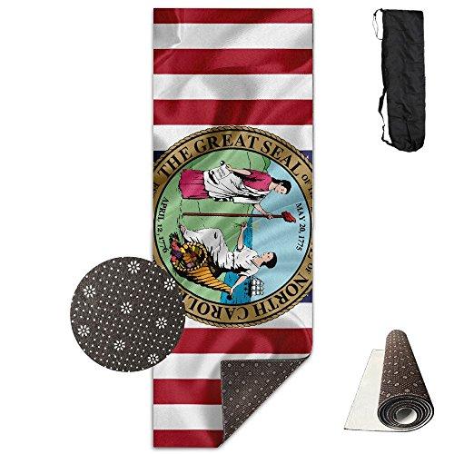 - Usa American State Seal Of North Carolina Yoga Mat,Crystal Fabric,bottom Non-woven Point Plastic.