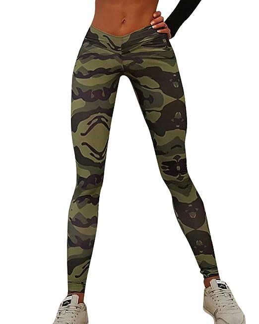 ShiFan Camisetas Deportivas Mallas Running Yoga Pantalon Camuflaje Trajes  Gimnasio Conjuntos para Mujer  Amazon.es  Ropa y accesorios 794d04a2529