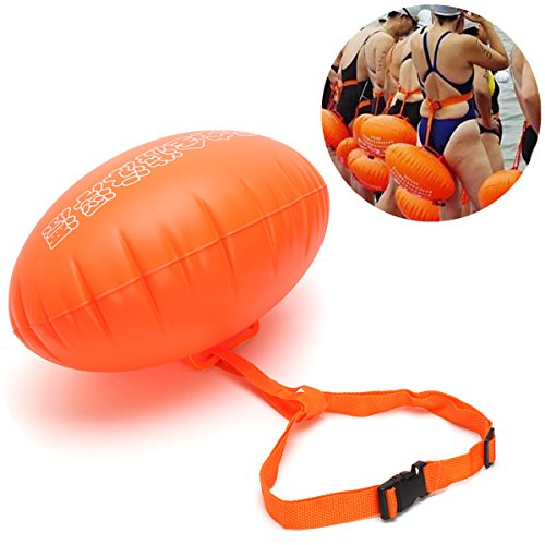 Swim Buoy,Pull Buoy,Inflatable Float Dual Airbag For Open Water Swimmers and (Course Buoy)