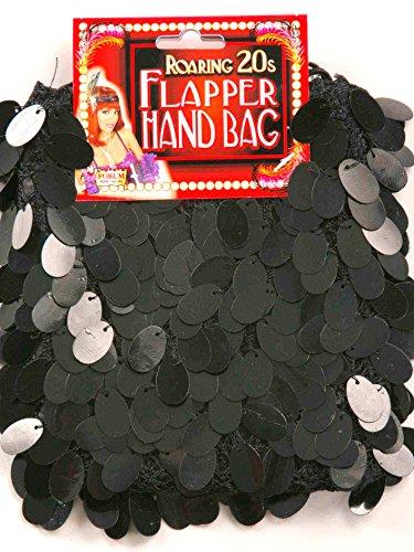 Sequin Flapper Purse Black by Forum Novelties (Image #1)