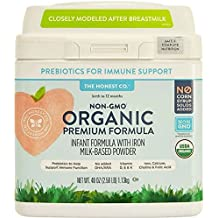 The Honest Co. Organic Non-GMO Premium Infant Formula with Iron, 40 Ounce