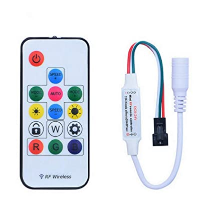 14 Keys Dc5v-24v 358 Kinds Of Changes Effects Rf Remote Controller For Ws2812b Ws2811 Led Strip Rgb Controlers