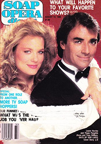 Leann Hunley & Thaao Penghlis (Days of Our Lives) * TV Soap Hoppers * August 13, 1985 Soap Opera Survive Magazine