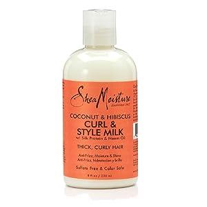 Shea Humedad Coco y Hibiscus acondicionado Curl / Estilo de leche 236 ml