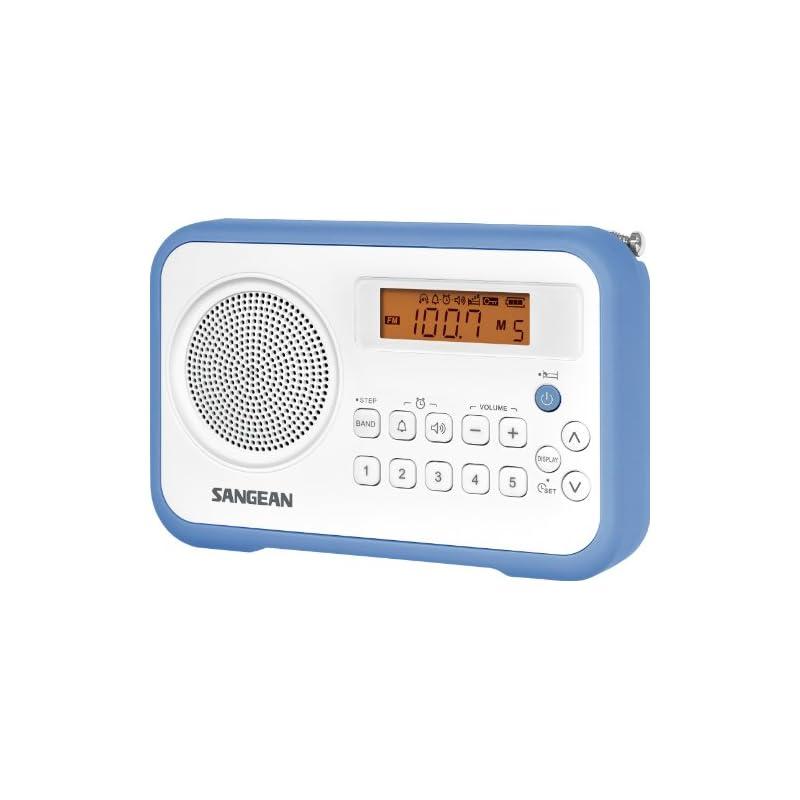 Sangean PR-D18BU AM/FM/Clock Portable Di