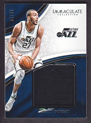 2016-17 Panini Immaculate Collection Basketball Standout Materials #RGB Rudy Gobert Jersey 72/99
