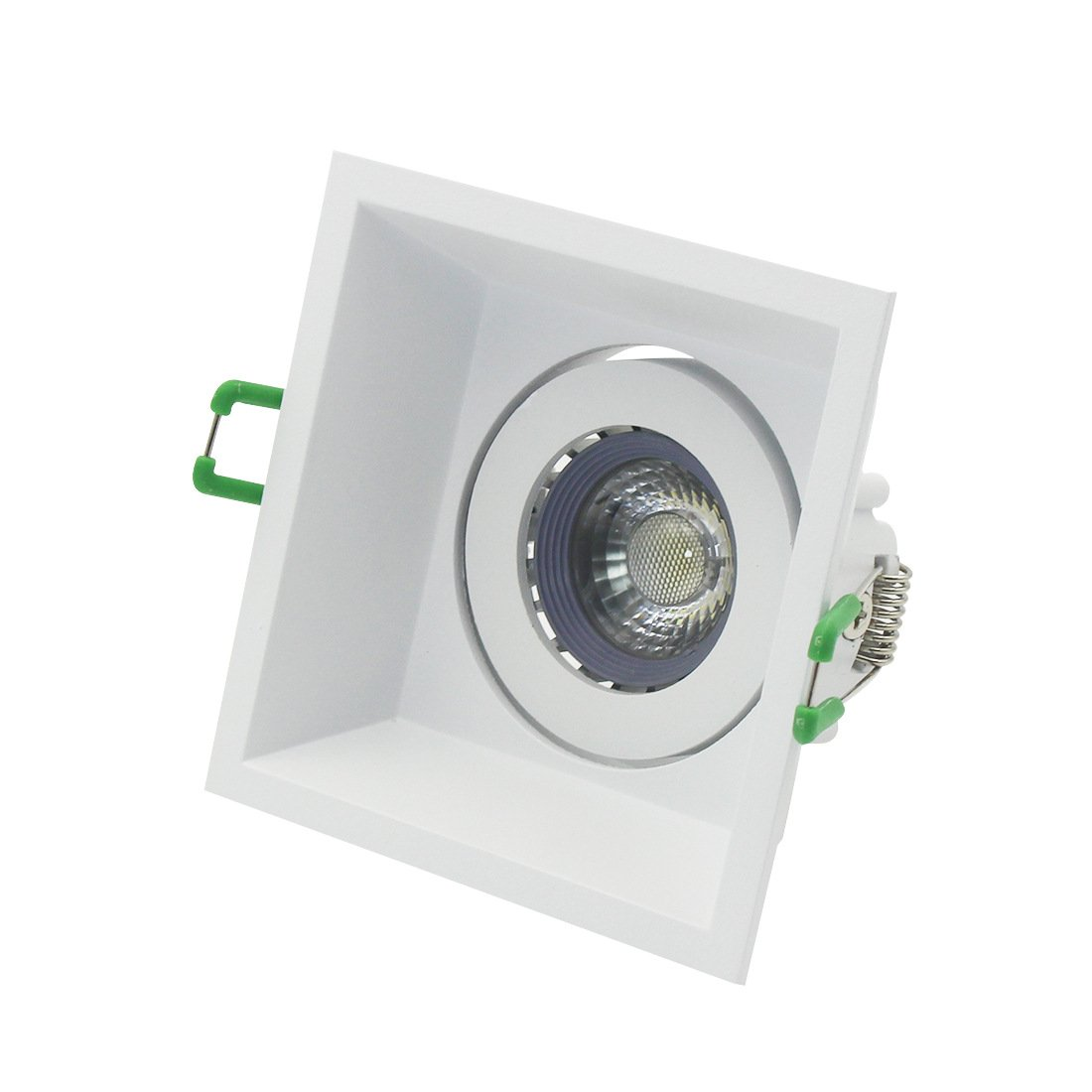 Recessed Can Light Trim Kit LED Downlight with 12V GU5.3 5W LED Bulb MR16 Socket Base,90mm Cut Out,Bulb Replaceable,Warm White,Angle Adjustable by LEDIARY (Image #1)