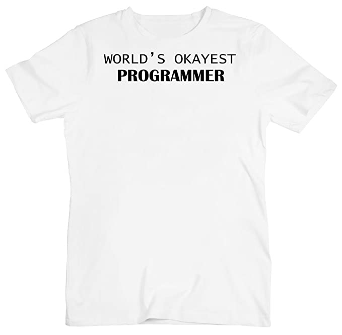 World's Okayest Programmer Men's T-Shirt Small