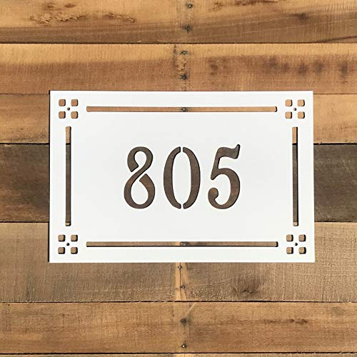 Craftsman Style Address Marker - Horizontal House Number - Metal Address Sign ()