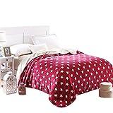 eDealMax 330 GSM Luxe Confortable Sommeil Confortable et chaleureux Lancers Fit Blanket Salon Sofa Pour adultes et Adolescents sur All Seasons Queen Size (Star)