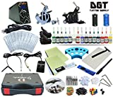 Complete Tattoo Kit 2 Machines Power Supply 15 colors ink