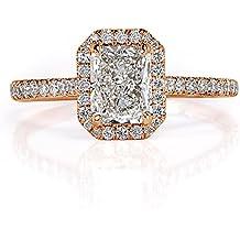 Mark Broumand 1.41ct Radiant Cut Diamond Engagement Ring