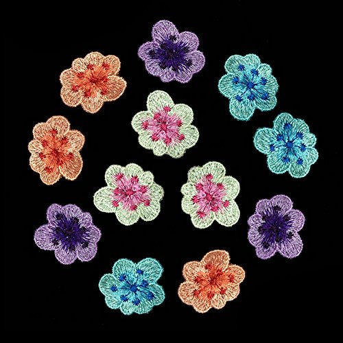 12 Piece Clothing embroidery flower patch Embroidered Sew On Patches Sticker Garment Appliques DIY Accessory
