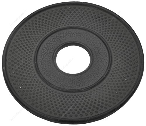 M.V. Trading T7020BK Cast Iron Trivet Hobnail Design, 5½-Inch, Black