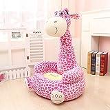 MAXYOYO Super Cute Plush Toy Bean Bag Chair Seat for Children,Cute Animal Plush Soft Sofa Seat,Cartoon Tatami Chairs,Birthday Gifts for Boys and Girls (pink giraffe)