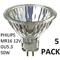 Philips Lot de 5ampoules halogènes 12V MR1650W GU5.336d Dx319p Variateur halogène dichroïque 58845100