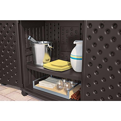 Suncast All Weather Construction Engineered Patio Storage And Prep Station