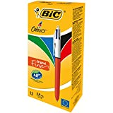 BiC 4 Colour Fine Ballpoint Pen (Box of 12)