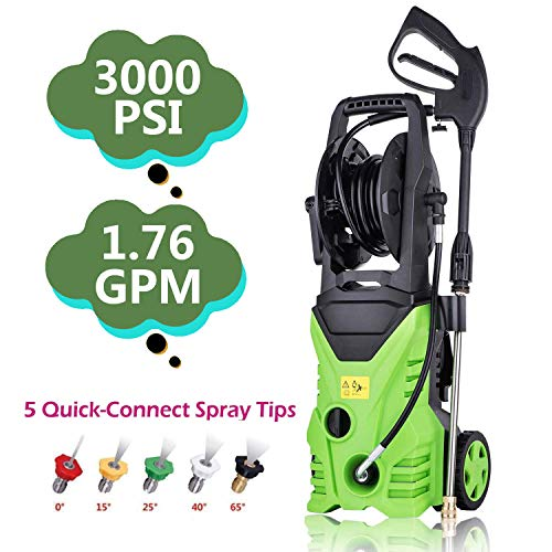 ncient NIS4600 High Pressure Power Washer 3000 PSI Electric Pressure Washer,1800W Rolling Wheels High Pressure Professional Washer Cleaner Machine+ (5) Nozzle Adapter (3000 PSI – New Model) For Sale
