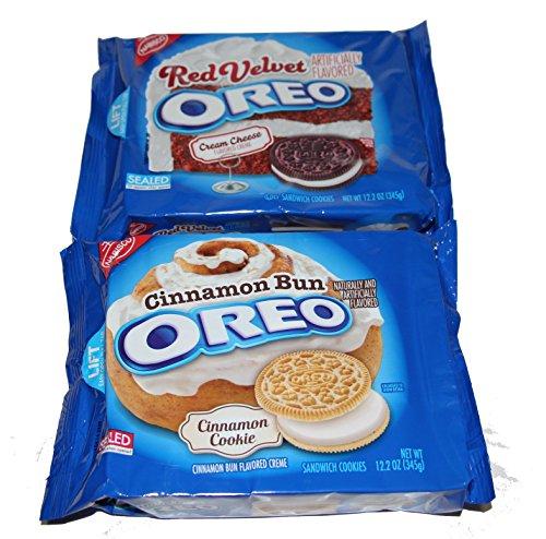Bundle 2 items:1 Red Velvet and 1 Cinnamon Bun Oreo Cookies