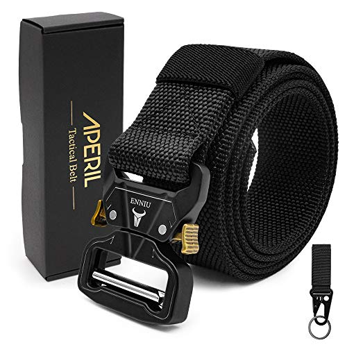 APERIL Tactical Belt, Men's Belt Adjustable Military Style Heavy-Duty 1.5'' Nylon Belt with Quick-Release Metal Buckle for Working Outdoor Molle