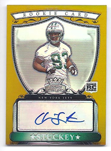 CHANSI STUCKEY 2007 Bowman Sterling Gold Autographs #CS AUTOGRAPH RC Rookie Card Numbered to only 1800 Made! New York Jets Football (2007 Bowman Gold Rookie Card)