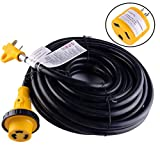 LeisureCords 25' Power / Extension Cord with 30 AMP Male Standard/30 AMP Female Locking Adapter