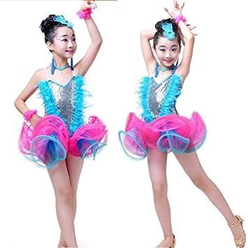 fa83c7d98ea2 Moyuqi Girls Latin Dance Dress Kids Ballet Tutus Costumes Jazz ...