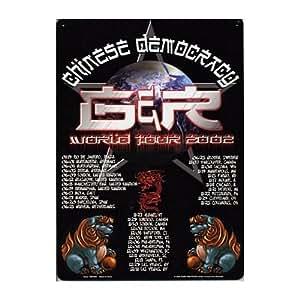 Guns N Roses Chinese Democracy World Tour 2002 Concert Music Tin Sign