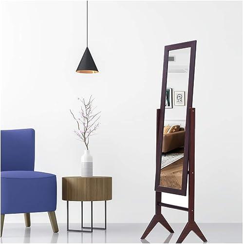 KEDLAN Floor Mirror Cheval Full-Length Large Wooden Standing Bedroom Rectangular Mirror 15.6 x 13.77