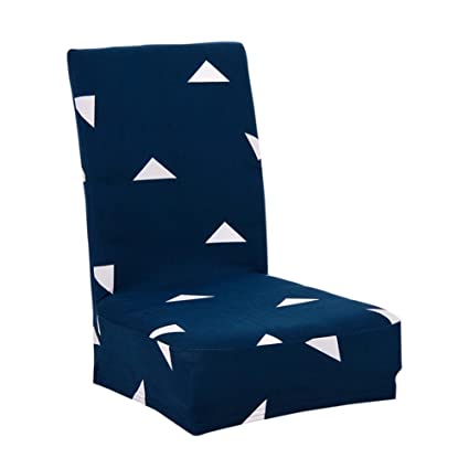 Tomtopp Printing Chair Cushion Slipcover Stretch Banquet Folding Home Seat Cover