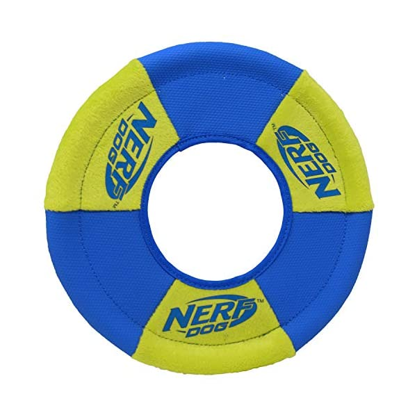 Nerf Dog Ultra-Track Toss and Tug Ring Toy, Medium, Blue/Green 2