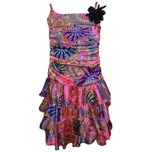 pink Kleid Pink Festkleid Eisend Gemustert gemustert Mädchenkleid Festliches xIwSzz4q