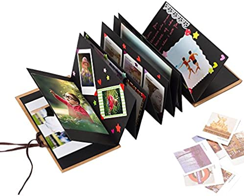 DIY Accessories Kit and Scrapbooking Supplies Gotideal DIY Scrapbook Album Craft Paper Wedding and Anniversary Photo Album Family Scrapbook with Photo Album Storage Box Pure