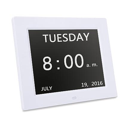 Reloj Digital de día, pérdida de memoria Digital Calendario DíA reloj, Extra grande con
