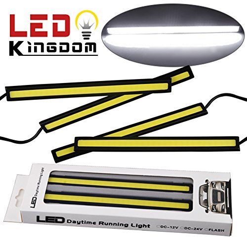 LEDKINGDOMUS 4PCS Waterproof Aluminum High Power 6W Car COB Lights 6000K White LED DRL Daytime Running Light Fog Driving Lamp 12v(white) (Led Fog Lights For Cars 6000k compare prices)