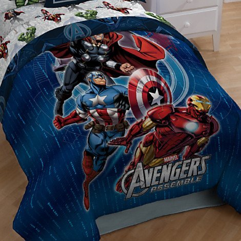 Marvel Avengers Assemble Twin Size Comforter and Sham Set