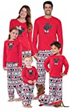 PajamaGram Mickey Mouse and Minnie Mouse Matching Family Pajamas, Red, Women Small (4-6)