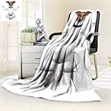 AmaPark Digital Printing Blanket Yoga Dog Sitting Relaxed with Closed Eyes Meditation Summer Quilt Comforter